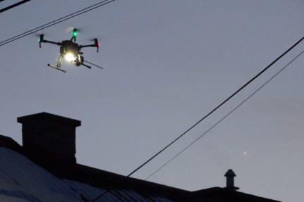 Kontrole spalania w piecach w gminie Zielonki z użyciem dronów